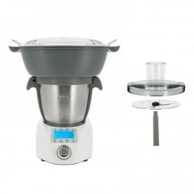 COMPACT COOK ELITE + Grand panier vapeur + Accessoire découpe légumes Robot Cuiseur Multifonction