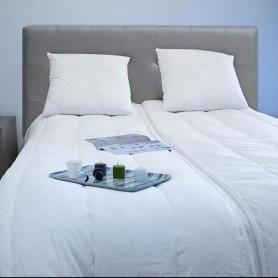 BLEU CALIN Couette couple Segmentable 220x240 cm blanc