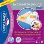 BLEU CALIN Couette couple Segmentable 220x240 cm blanc